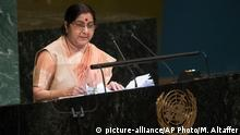 USA UN Sushma Swaraj in New York