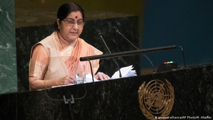 Sushma Swaraj in New York