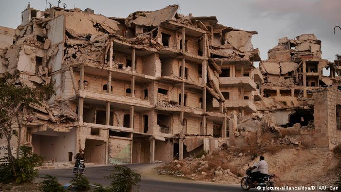 Syrien Zerstörung in der Provinz Idlib (picture-alliance/dpa/DHA/U. Can)
