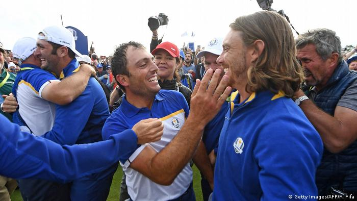 Ryder Cup 2018 | Francesco Molinari und Tommy Fleetwood (Getty Images/AFP/F. Fifa)