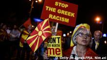 Mazedonien Referendum Namensstreit Protest Gegner