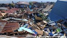 Indonesien Palu Zerstörung nach Tsunami