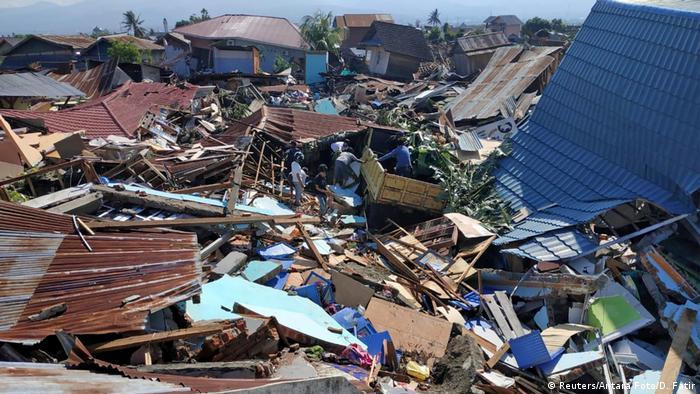 Последствия цунами в городе Палу