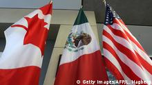 NAFTA Flaggen Kanada Mexiko USA
