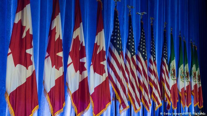 NAFTA Flaggen Kanada USA Mexiko