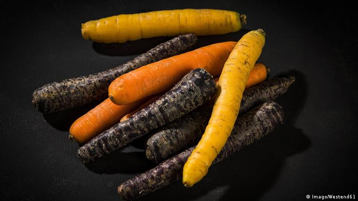 Purple, orange and white carrots (Imago/Westend61)