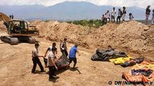 Indonesien Palu Massengrab für Tsunami-Opfer