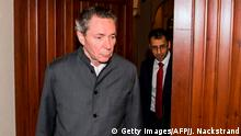 Frenchman Jean-Claude Arnault arrives at the district court in Stockholm on September 24, 2018, where he will attend the final hearing in his trial for rape and sexual assault, allegations that prompted the Swedish Academy to postpone the Nobel Literature Prize. (Photo by Jonathan NACKSTRAND / AFP) (Photo credit should read JONATHAN NACKSTRAND/AFP/Getty Images).