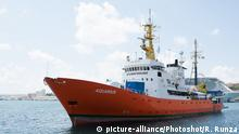 Malta MV Aquarius in Valetta (picture-alliance/Photoshot/R. Runza)