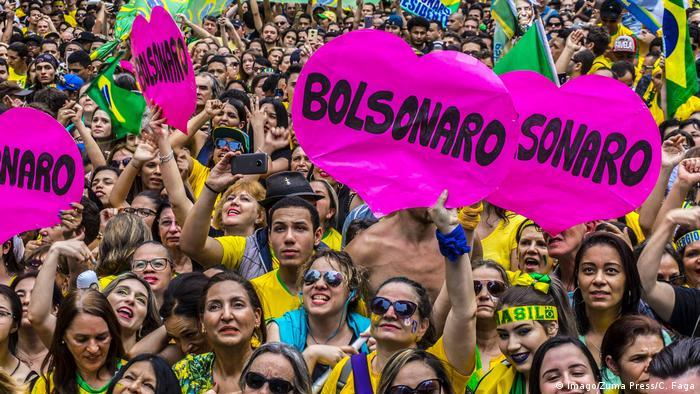 Brasilien Sao Paulo - Demonstration für Jair Bolsonaro