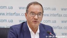 Ukraine | Pressekonferenz des Oberbürgermeister von Hluhiw Michel Terestchenko