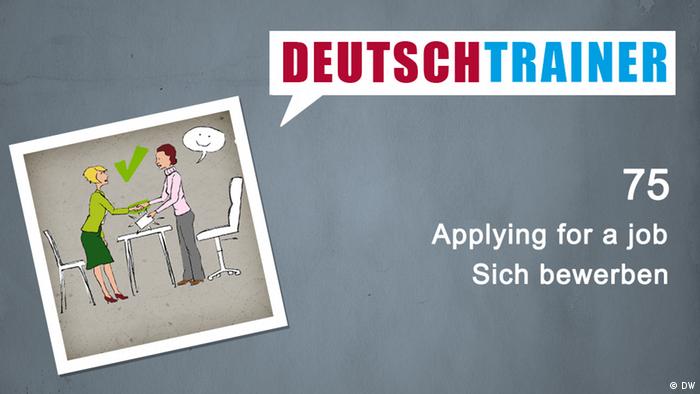 Deutschtrainer 75 Applying For A Job Deutschtrainer 9