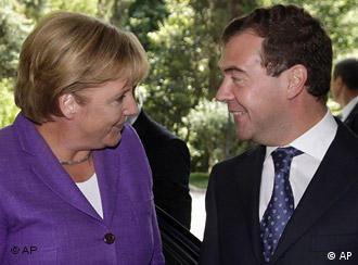 Дмитрий Медведев и Ангела Меркель в Сочи