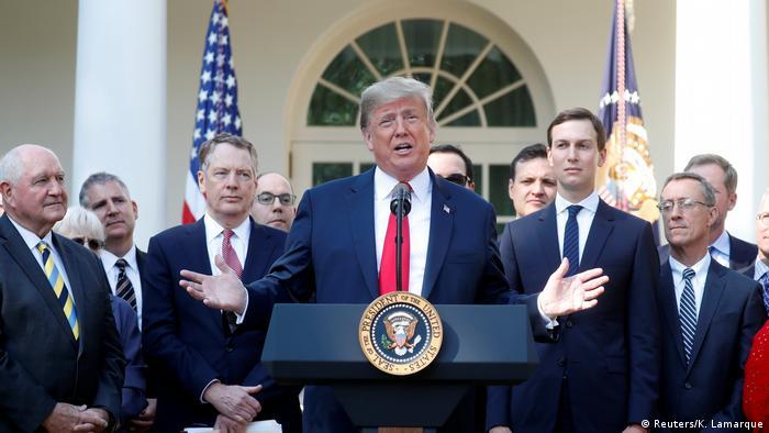 Trump em coletiva de imprensa na Casa Branca sobre acordo entre EUA, México e Canadá