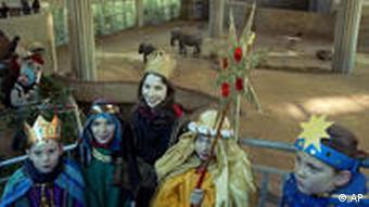 Schüler im Kölner Zoo