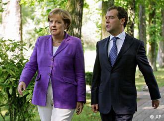 Ангела Меркель и Дмитрий Медведев в Сочи