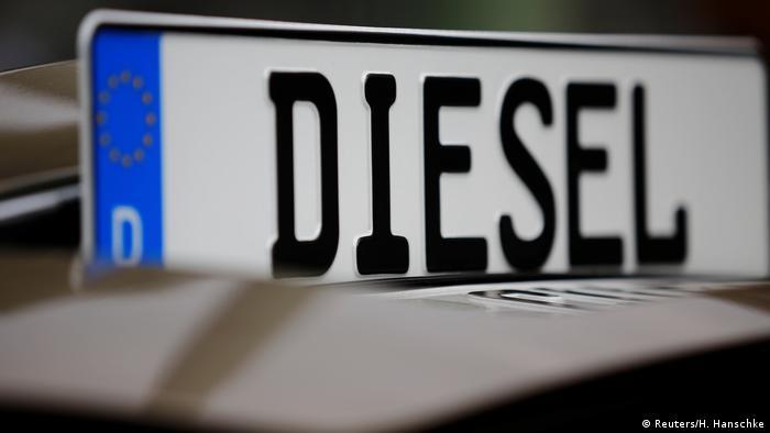 Автомобильная номерная табличка с надписью Дизель