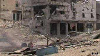 مناطق ویران در پی درگیری با گروه حوثی