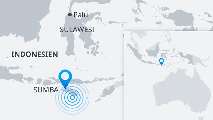 Karte Sumba Erdbeben Indonesien DE