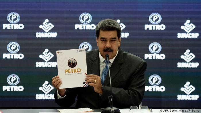 Venezuelas Präsident Nicolas Maduro stellt Crypto-Währung Petro vor