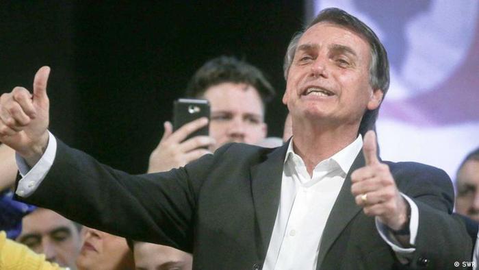 Presidente eleito Jair Bolsonaro durante campanha