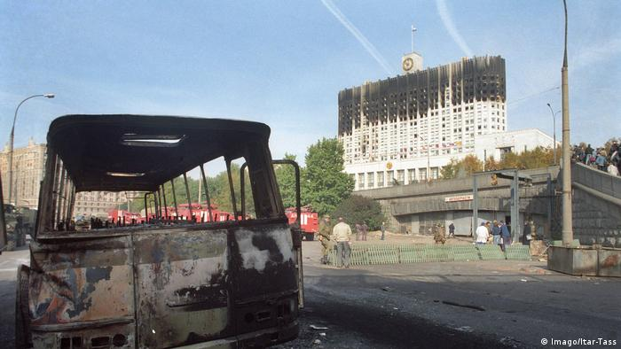 Moscow: The House of Government burned