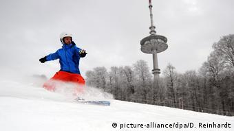 Сноубордист в Германии