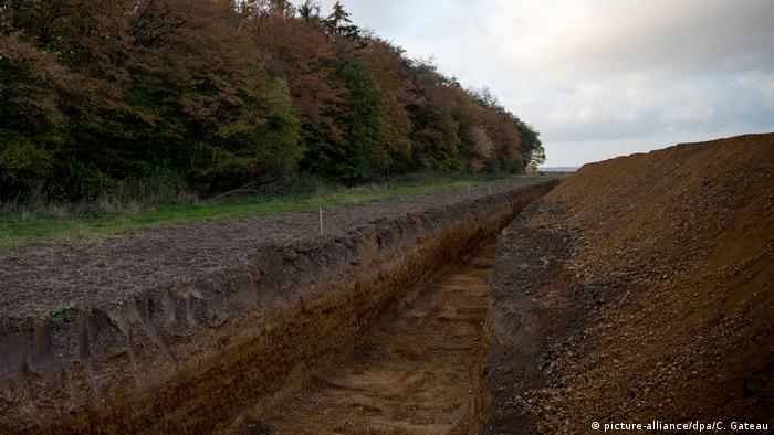 RWE's trench at the Hambach forest