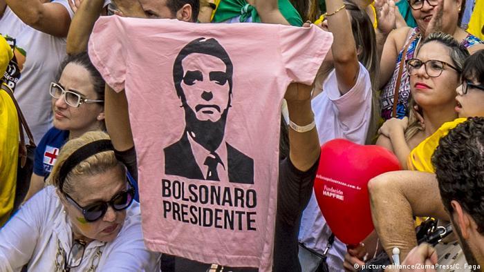 Brasilien Wahlen Unterstützer von Jair Bolsonaro