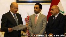 Irak neuer Präsident Barham Salih leistet Amtseid