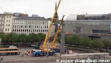 Kassel Documenta-Obelisk wird abgebaut