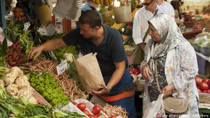 Türkei Istanbul Gemüseladen