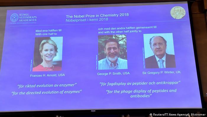Schweden Stockholm Gewinner des Chemie Nobelpreises (Reuters/TT News Agency/J. Ekstromer)
