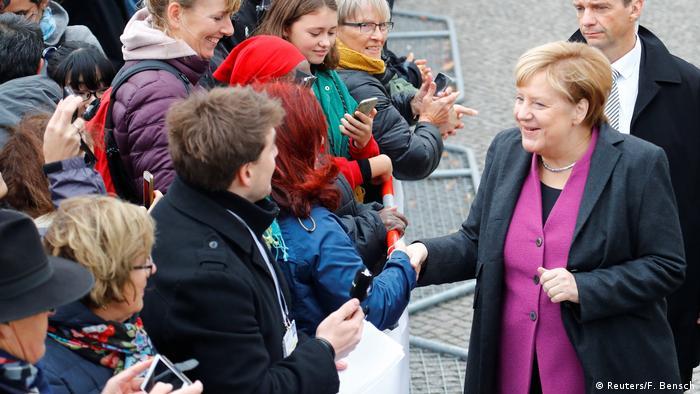Deutschland Feier zum Tag der Deutschen Einheit in Berlin   Angela Merkel (Reuters/F. Bensch)