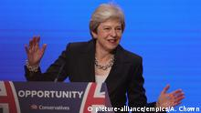 Birmingham Tory-Parteitag Rede Theresa May
