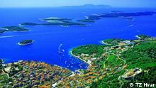 Kroatische Stadt Hvar auf der gleichnamigen Insel.
