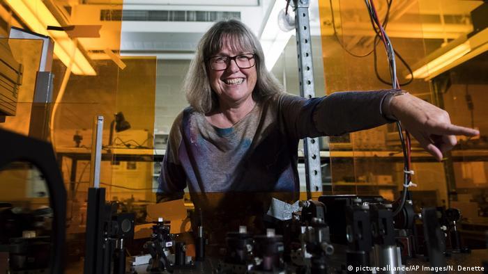 A canadense Donna Strickland, vencedora do prêmio Nobel de Física de 2018
