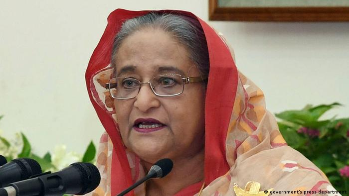 Bangladesch Premierministerin Sheikh Hasina zum Gesetz zur digitalen Sicherheit (government's press department)