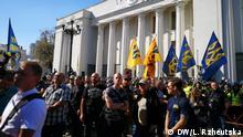 02.10.2018+++Kiew, Ukriane+++ Proteste in Kiev für die Rechte der ausländischen Kämpfer