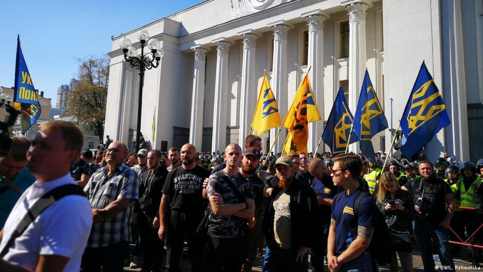 Ukraine | Proteste in Kiev für die Rechte der ausländischen Kämpfer