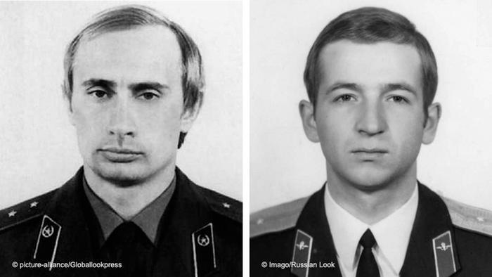 Bildkombo Putin und Skripal als Soldaten