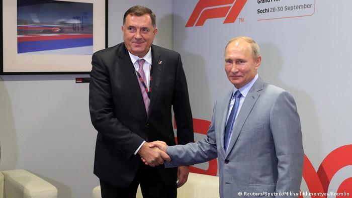 Russland Wladimir Putin & Milorad Dodik, Präsident Republika Srpska in Sotschi