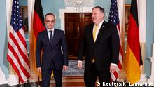 03.10.2018+++Washington D.C., USA+++ U.S. Secretary of State Mike Pompeo meets German Foreign Minister Heiko Maas (L) at the State Department in Washington, U.S., October 3, 2018. REUTERS/Kevin Lamarque