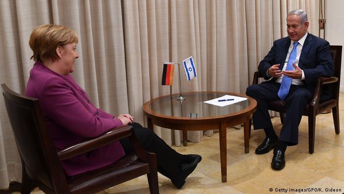 Israel Angela Merkel & Benjamin Netanjahu, Premierminister (Getty Images/GPO/K. Gideon)
