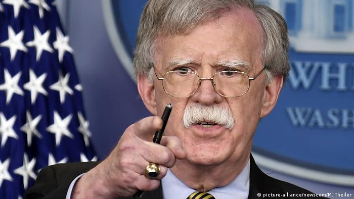 USA Sicherheitsberater John Bolton Sanktionen Iran (picture-alliance/newscom/M. Theiler)