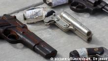 Mexiko Kriminalität Zerstörung von Handfeuerwaffen