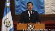 Guatemala Präsident Jimmy Morales