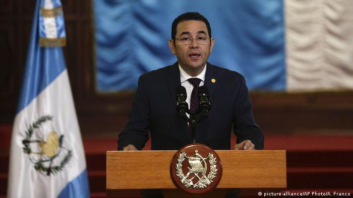 Guatemala Präsident Jimmy Morales (picture-alliance/AP Photo/A. Franco)