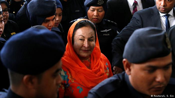 Rosmah Mansor arrives at a court in Kuala Lumpur, Malaysia