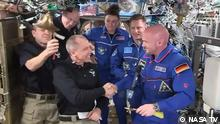 Exp 56 Commander Drew Feustel (@Astro_Feustel) handed over station command today to Flight Engineer Alexander Gerst (@Astro_Alex). Exp 57 officially begins when Exp 56 undocks Thursday at 3:57am ET live on @NASA TV.